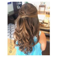 """Makeup & Hair by Elvi ? Miami on Instagram: """"Half up hairstyles are... ❤ liked on Polyvore featuring hair"""