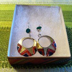 Earrings (Tribal Pattern – Round)