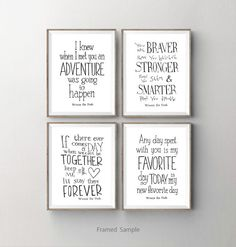 Winnie the Pooh Quotes set of 4 printable 8x10 by SaturdayDesigns $10.00 --- Love but problem is that our theme is Disney Pooh not Classic Poohu2026 & Winnie the Pooh Quotes set of 4 printable 8x10 by SaturdayDesigns ...