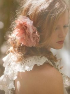 love her hair. Loose and romantic. by lottie