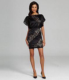 Jessica Simpson LacePanel Blouson Dress #Dillards Bobbi sue this is the one I bought!!!
