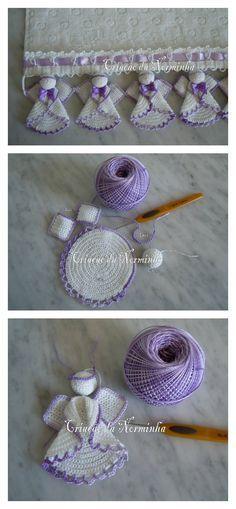 Anjinho em crochê feito a partir de um círculo