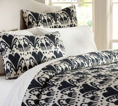 Ikat Quilt & Sham | Pottery Barn. Let this exotic print conjure up honeymoon memories!