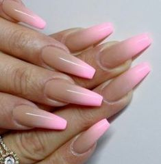 77 Fantastic Stiletto Nails Designs Ideas - Beautiful nails is no longer something unapproachable. Look at these super stiletto nails and choose the best variant for you. Each woman has her own sense of taste and we took it into account selecting … Pink Ombre Nails, Stiletto Nail Art, Summer Acrylic Nails, Cute Acrylic Nails, Ombre Nail Art, Pink Tip Nails, Ombre French Nails, Acrylic Nails Coffin Ombre, Colored Acrylic Nails
