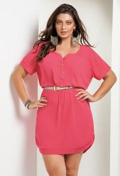 Vestido Chemisie Plus Size | Wish Fashion