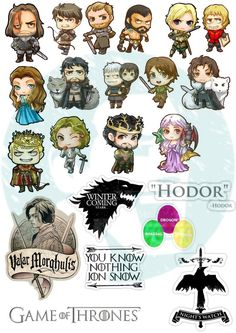 New to BestStickersClub on Etsy: Set #234. Game of Thrones. Mockup printable Tumblr Stickers Stickers Set of stickers. Decals. Instant Download PDF and PNG Files (1.89 USD)