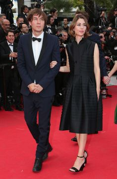 Jury member Sofia Coppola and husband Thomas Mars attend the 'Saint Laurent' premiere during the 67th Annual Cannes Film Festival on May 17, 2014 in Cannes, France.