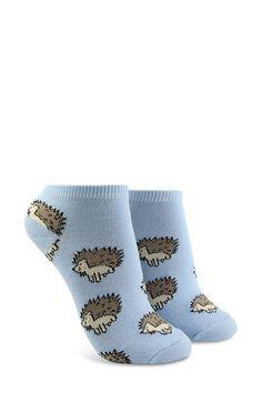 Hedgehog Print Ankle Socks