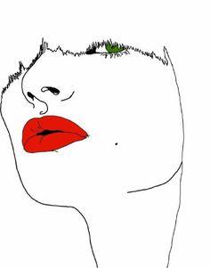 Montana Forbes, illustration, art, red, green, white,