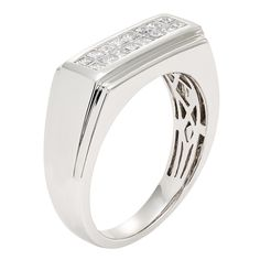 Sofia 14K Gold 1/2ct TDW 16-stone Princess Cut Men's Ring (H-I, I1) (Size )