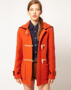 GLOVERALL  Gloverall Heritage Duffle Coat with Split Hood