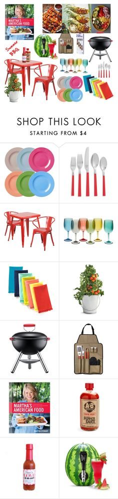 """""""Summer BBQ"""" by maria-notte ❤ liked on Polyvore featuring interior, interiors, interior design, home, home decor, interior decorating, Rice, Kate Spade, Flash Furniture and Potting Shed Creations"""