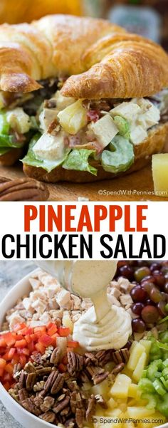 This easy Chicken Salad is loaded with juicy pineapple, grapes and crunchy celery for a delicious and simple meal! In partnership with Nestea #SimpleSolutions #ad