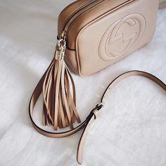 Perfect beige color of Gucci bag. on We Heart It Hermes Handbags, Gucci Bags, Handbags On Sale, Luxury Handbags, Chanel Bags, Gucci Soho Disco, Chain Shoulder Bag, Cross Body Handbags, A Boutique