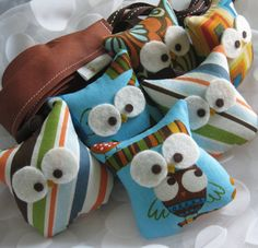 These owls would be super cute on a baby mobile.