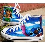 Items similar to Stitch anime Custom Canvas, Lilo and Stitch hand painted shoes, high top Shoes. on Etsy, a global handmade and vintage marketplace.