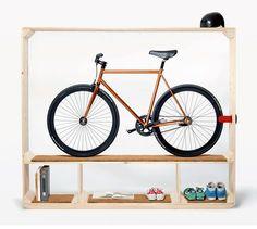 Es de todo mi estilo!!! Un mueble para bicicletas…