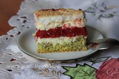 Cukiernia Pychotki: Ciasto makowo-truskawkowo-kokosowe Vanilla Cake, Cakes, Cake Makers, Kuchen, Cake, Pastries, Cookies, Torte, Layer Cakes