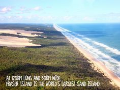 Beautiful Fraser Island just up the road! Sand Island, Big Island, Australian Continent, Fraser Island, Largest Countries, Queensland Australia, Amazing Nature, Continents, Places To Travel