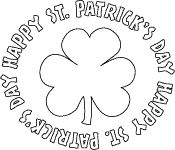 St. Patrick's Day Bubble Letters Coloring Page