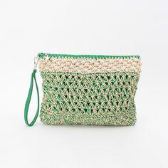 OPAQUE. CLIP crochet clutch bag