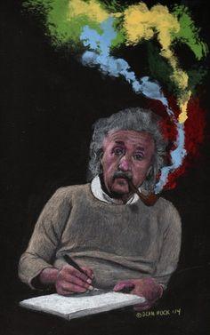Albert Einstein - Mixed media by Dean Huck on ARTwanted