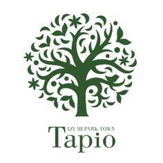 泉パークタウン タピオのロゴ:「北欧」「森」「精霊」でできあがったロゴ | ロゴストック