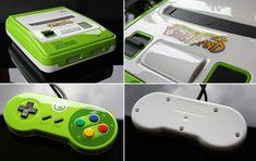 E que tal esse SNES personalizado do Yoshi