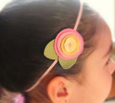 Spring Felt Flower headband