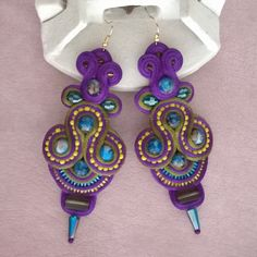 #soutache #hechoamano #handmade #jewelry #etsy #etsyfinds #etsyjewelry #boho #gypsy #vintage #chilegram #santiagodechile #earrings
