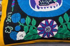 Woolen embroidery by Elin Jantze, illustration by Maja Sten