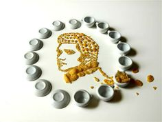 Elvis made out of corn flakes
