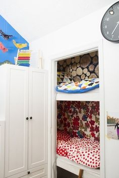 """Acquire wonderful tips on """"murphy bed ideas ikea apartment therapy"""". They are actually offered for you on our web site. Ikea Kids Room, Kids Bedroom, Upstairs Bedroom, Baby Bedroom, Bedroom Ideas, Murphy-bett Ikea, Sleeping Nook, Bed In Closet, Closet Space"""