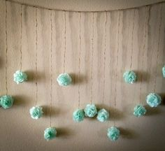 Mint Green Tissue Paper Flower Wedding Garland, Photography Prop, Party Decoration. $30.00, via Etsy.