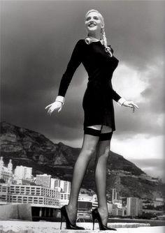 Photographer: Helmut Newton Model: Nadja Auermann Blumarine Fashion Series 1993-99