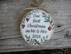Our First Christmas Ornament Newlywed Ornament by ForesteDiOro