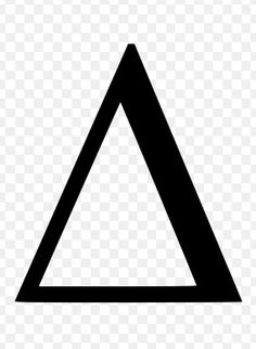 Delta symbol, a mathematical symbol meaning change. When