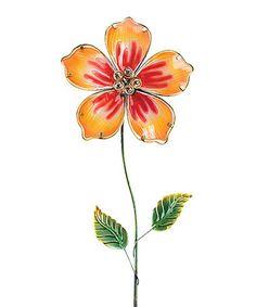 Yellow Hibiscus Garden Stake #zulily #zulilyfinds
