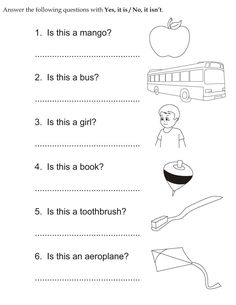 Download english activity worksheet Answer the following questions with Yes, it is / No, it isn�t from bestcoloringpages.com