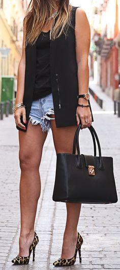 Denim + Black by Trendy Taste