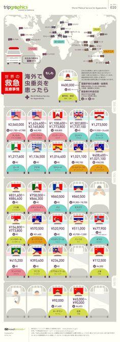 世界の救急医療事情 トリップアドバイザーのインフォグラフィックスで世界の旅が見える