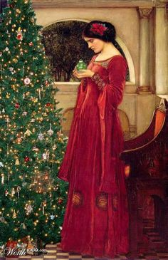 """ Christmas Ball "" Inspired by John William Waterhouse painting ...Merry Christmas for all members of this amazing group"