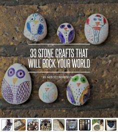 33 #Stone Crafts That Will Rock Your World ... - DIY