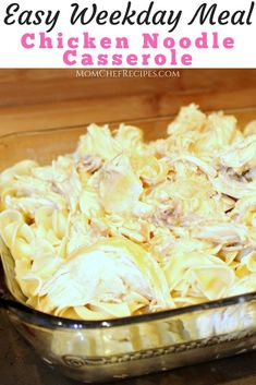 I am loving this super simple chicken noodle casserole crockpot recipe. Prep all day in the crockpot and finish it off just before serving. Chef Recipes, Slow Cooker Recipes, Crockpot Recipes, Chicken Recipes, Casserole Recipes, Dump Recipes, Frugal Recipes, Healthy Recipes, Delicious Recipes