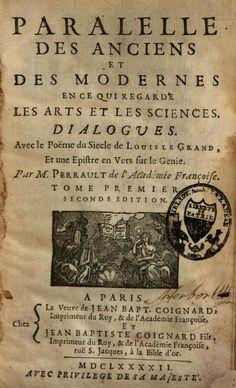 Parallèle des anciens et des modernes en ce qui regarde les arts et les sciences - Charles Perrault - Google Libros