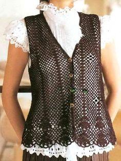 Crochet Sweaters: Crochet Vest Pattern Free for Women -Chic and Easy...