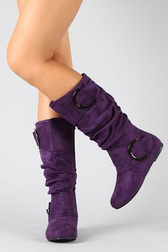 Great website for cheap boots. All pairs under $40! I love these purple boots!