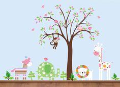 Jungle Animals Wall Decals Bebe Diva Childrens Room Decor Kids Baby