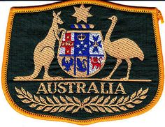 Australian Coat of Arms souvenir cloth patch