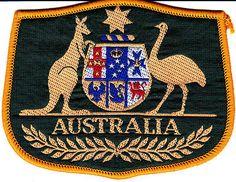 Australian Coat of Arms souvenir cloth patch